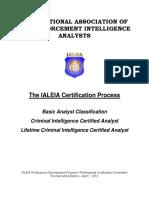 IALEIA Certification 2013