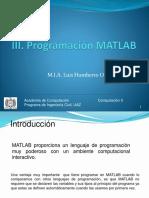III. Programacion MATLAB