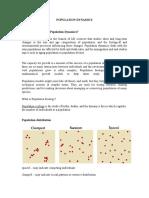 Population Dynamics Study by Fahmid