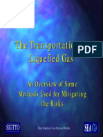 The Transportation of Liquefied Gas - An Overview of Some Methods Used for Mitigating the Risks