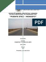 Informe de Puentes Chiclayo Puente Eten Monsefu
