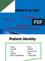 CHF NYHA IV Ec CAD