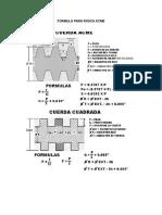 Formula Para Rosca Acme