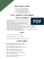 Modelo de Currículo em Português