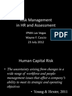 Risk Management in HR