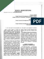Bellelli et al (1994) Gender and Science