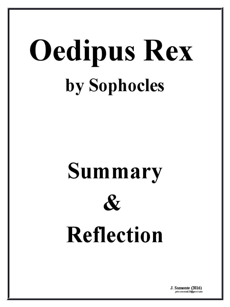 oedipus rex annotated bibliography Literary analysis in oedipus the king sophocle's oedipus-literary analysis oedipus rex is a play written by sophocles tells the story of oedipus.