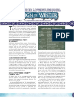 Reign of Winter PFS Chronicle Sheets