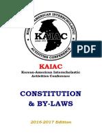KAIAC Constitution 2016-17