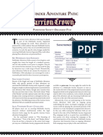 Carrion Crown PFS Chronicle Sheets