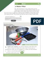 Make a Water Filter