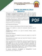 TRANSPORTE EN MINA A CIELO ABIERTO.docx