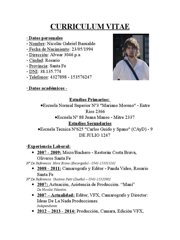 Nicolás Basualdo CV 2015