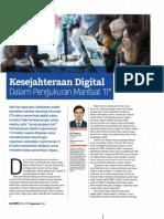 Kesejahteraan Digital dalam Pengukuran Manfaat TI