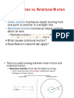 Linear Motion vs. Rotational Motion