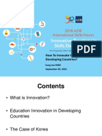 PARK Keynote Address Education and Innovation 16Sept