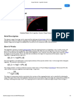 Image Arithmetic - Logarithm Operator