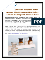 Haws Corporation Tempered Water Nevada USA, Singapore - Nine Safety Tips for Working With Formaldehyde