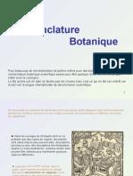 Cours Botanique Nomenclature