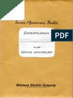 W E Service Anv.book 1965 Era