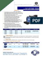Datasheet 117 Kw Diesel Generator 146 Kva 3 Phase Sdmo John Deere j120u