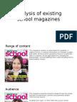 Analysis of Existing School Magazines NEW