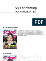Analysis of Existing School Magazines NEW