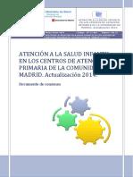 Actualización 2014 Doc Atencion Salud Infantil en CS de CAM