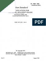 1840 - Specification Benzene