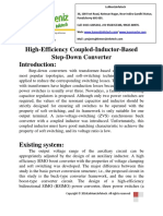 High Efficiency Coupled Inductor Based Step Down Converter