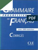 Grammaire progressive du Francais Corrigés Intermediaire