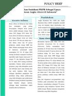 Policy Brief- Optimalisasi PKPR Sebagai Upaya Pengentasan Angka Aborsi Di Indonesia