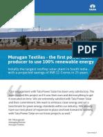 Murugan Textiles - Case Study