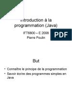 Introduction à La Programmation (Java)