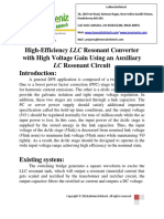 High-Efficiency LLC Resonant Converter With High Voltage Gain Using an Auxiliary LC Resonant Circuit