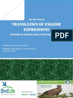 THE NEW FRENCH translation of English expressions FOR BIRDLIFE INTERNATIONAL STAFF AND PARTNERS