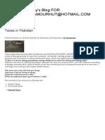 Taxes in Pakistan _ PakistanEconomy's Blog