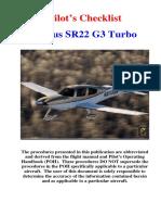 SR22 G3 Turbo Checklist