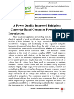 A Power Quality Improved Bridgeless Converter Based Computer Power Supply