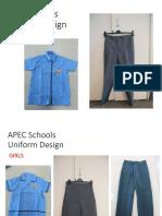 APEC Schools Uniform Design