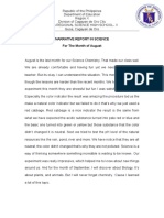 Narrative Report in Science