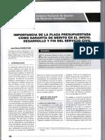 La Plaza Presupuestada Como Garantía de Mérito - Autor Jose María Pacori Cari084