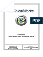 Eclinicalworks EMR Train the Trainer Client-Reseller Program