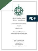 ICU - General Care Assignment I