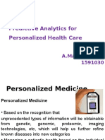 Predictive Analytics for Personalized Health Care