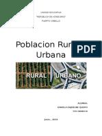 Poblacion Rural y Urbana