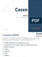 Casen2013 Genero adulto mayor