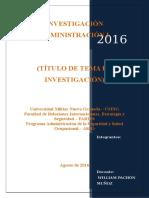 Estructura Informe de Investigación Administración i