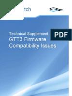 Technical Supplement 1.19 GTT Firmware Compatibility