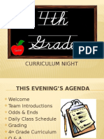 4th grade curriculum night 2016 - 2017